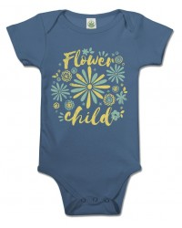 Flower Child Organic Baby Onesie All Wicca Store Magickal Supplies Wiccan Supplies, Wicca Books, Pagan Jewelry, Altar Statues