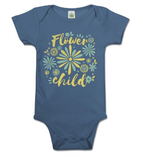 Flower Child Organic Baby Onesie at All Wicca Store Magickal Supplies, Wiccan Supplies, Wicca Books, Pagan Jewelry, Altar Statues