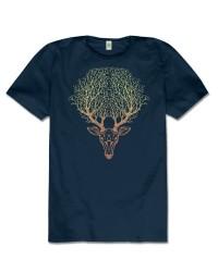 Deer Spirit Hemp T-Shirt All Wicca Store Magickal Supplies Wiccan Supplies, Wicca Books, Pagan Jewelry, Altar Statues