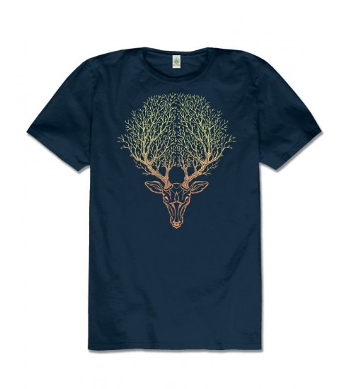 Deer Spirit Hemp T-Shirt at All Wicca Store Magickal Supplies, Wiccan Supplies, Wicca Books, Pagan Jewelry, Altar Statues