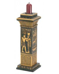 Egyptian Column Candle Holder All Wicca Store Magickal Supplies Wiccan Supplies, Wicca Books, Pagan Jewelry, Altar Statues