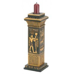 Egyptian Column Candle Holder All Wicca Wiccan Altar Supplies, All Wicca Books, Pagan Jewelry, Wiccan Statues