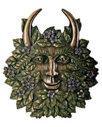 Greenman Spring Wall Plaque All Wicca Store Magickal Supplies Wiccan Supplies, Wicca Books, Pagan Jewelry, Altar Statues