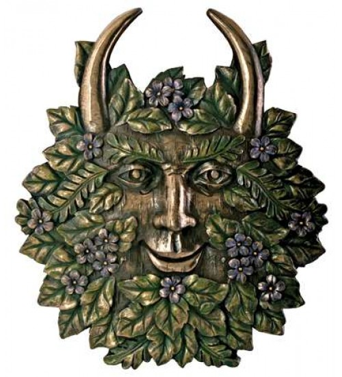 Greenman Spring Wall Plaque at All Wicca Store Magickal Supplies, Wiccan Supplies, Wicca Books, Pagan Jewelry, Altar Statues
