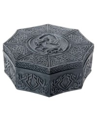 Celtic Dragon Octagonal Box All Wicca Store Magickal Supplies Wiccan Supplies, Wicca Books, Pagan Jewelry, Altar Statues
