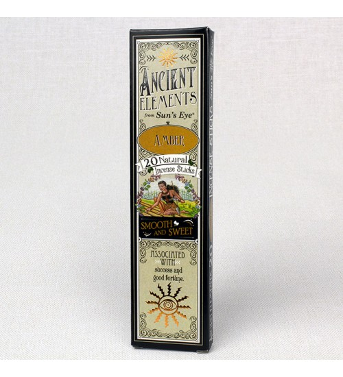 Amber Ancient Elements Incense Sticks at All Wicca Store Magickal Supplies, Wiccan Supplies, Wicca Books, Pagan Jewelry, Altar Statues
