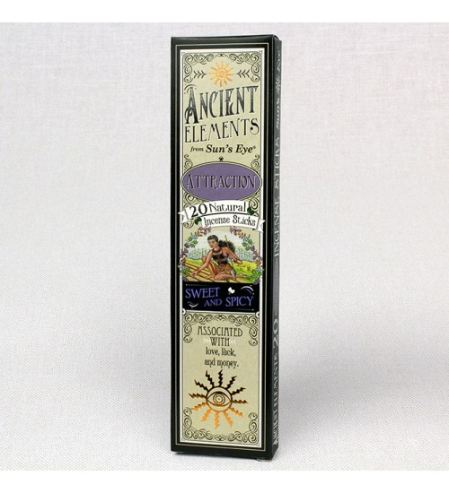 Attraction Ancient Elements Incense Sticks at All Wicca Store Magickal Supplies, Wiccan Supplies, Wicca Books, Pagan Jewelry, Altar Statues