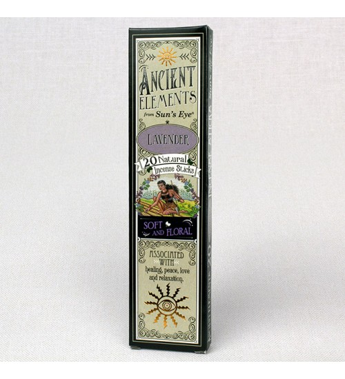 Lavender Ancient Elements Incense Sticks at All Wicca Store Magickal Supplies, Wiccan Supplies, Wicca Books, Pagan Jewelry, Altar Statues