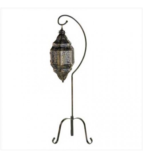Moroccan Candle Lantern with Stand at All Wicca Store Magickal Supplies, Wiccan Supplies, Wicca Books, Pagan Jewelry, Altar Statues