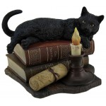 Witching Hour Black Cat Statue