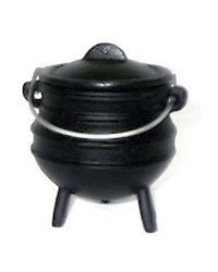 Cast Iron Mini Potjie Cauldron - 8 Oz All Wicca Store Magickal Supplies Wiccan Supplies, Wicca Books, Pagan Jewelry, Altar Statues