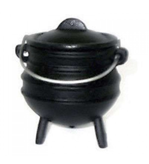 Cast Iron Mini Potjie Cauldron - 5 Oz at All Wicca Store Magickal Supplies, Wiccan Supplies, Wicca Books, Pagan Jewelry, Altar Statues