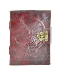 Fairy Moon 8 Inch Leather Journal with Latch All Wicca Store Magickal Supplies Wiccan Supplies, Wicca Books, Pagan Jewelry, Altar Statues