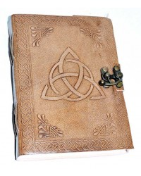 Triquetra Leather Blank 7 Inch Journal with Latch All Wicca Store Magickal Supplies Wiccan Supplies, Wicca Books, Pagan Jewelry, Altar Statues