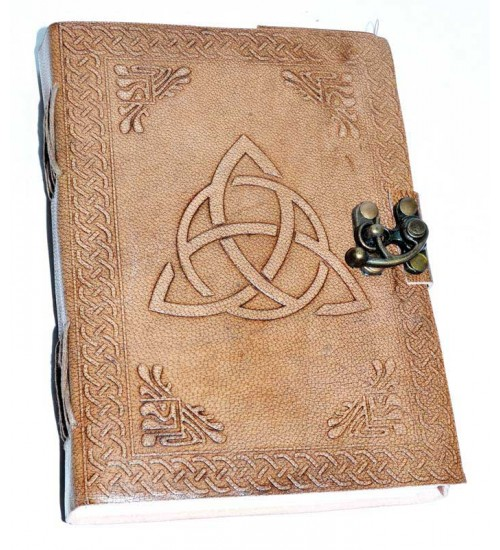 Triquetra Leather Blank 7 Inch Journal with Latch at All Wicca Store Magickal Supplies, Wiccan Supplies, Wicca Books, Pagan Jewelry, Altar Statues