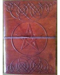 Celtic Heart Pentagram Leather 7 Inch Journal All Wicca Store Magickal Supplies Wiccan Supplies, Wicca Books, Pagan Jewelry, Altar Statues
