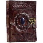 Gods Eye Brown Leather Pocket Journal with Latch