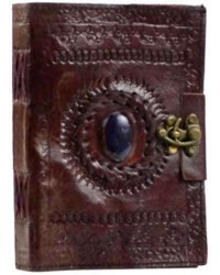 Gods Eye Brown Leather 7 Inch Journal with Latch All Wicca Magickal Supplies Wiccan Supplies, Wicca Books, Pagan Jewelry, Altar Statues