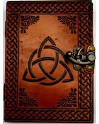 Triquetra 2 Tone Leather 7 Inch Journal with Latch All Wicca Store Magickal Supplies Wiccan Supplies, Wicca Books, Pagan Jewelry, Altar Statues