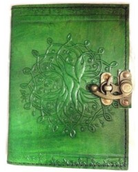 Tree of Life Green Leather Journal with Latch All Wicca Magickal Supplies Wiccan Supplies, Wicca Books, Pagan Jewelry, Altar Statues