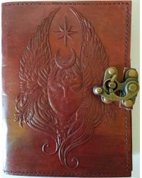 Moon Goddess 7 Inch Leather Journal with Latch All Wicca Store Magickal Supplies Wiccan Supplies, Wicca Books, Pagan Jewelry, Altar Statues
