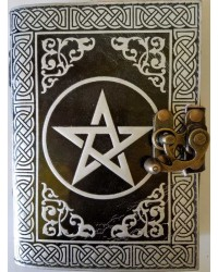 Pentacle Black and Silver Book of Shadows Journal with Latch All Wicca Store Magickal Supplies Wiccan Supplies, Wicca Books, Pagan Jewelry, Altar Statues