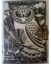Owl Black and Silver Book of Shadows Journal with Latch