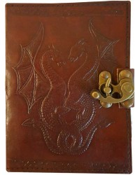 Double Dragon Leather Journal with Latch All Wicca Store Magickal Supplies Wiccan Supplies, Wicca Books, Pagan Jewelry, Altar Statues