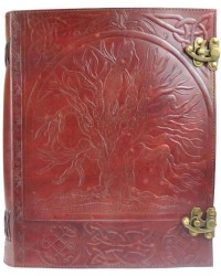 Tree of Life Leather Blank Book with Latch - 10 x 13 All Wicca Store Magickal Supplies Wiccan Supplies, Wicca Books, Pagan Jewelry, Altar Statues