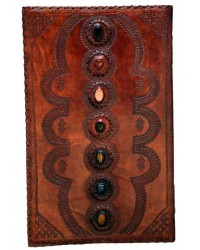 7 Chakra Stones XLarge Leather Blank Journal - 22 Inches All Wicca Store Magickal Supplies Wiccan Supplies, Wicca Books, Pagan Jewelry, Altar Statues
