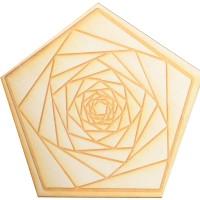 Fractal Spiral Wood Crystal Grid in 3 Sizes