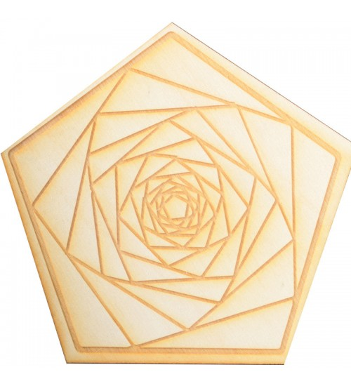 Fractal Spiral Wood Crystal Grid in 3 Sizes