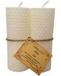 White Beeswax Altar Candle Set All Wicca Store Magickal Supplies Wiccan Supplies, Wicca Books, Pagan Jewelry, Altar Statues