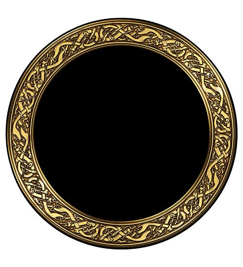 Celtic Snakes Acrylic Scrying Mirror at All Wicca Store Magickal Supplies, Wiccan Supplies, Wicca Books, Pagan Jewelry, Altar Statues