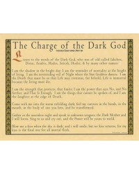 Charge of the Dark God Parchment Poster All Wicca Magickal Supplies Wiccan Supplies, Wicca Books, Pagan Jewelry, Altar Statues