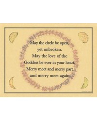 Circle Blessing Parchment Poster All Wicca Magickal Supplies Wiccan Supplies, Wicca Books, Pagan Jewelry, Altar Statues