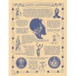 Moon Goddesses Parchment Poster