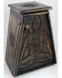 7 Chakra Wooden Cupboard All Wicca Store Magickal Supplies Wiccan Supplies, Wicca Books, Pagan Jewelry, Altar Statues