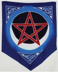 Pentacle Moon Pennant All Wicca Magickal Supplies Wiccan Supplies, Wicca Books, Pagan Jewelry, Altar Statues