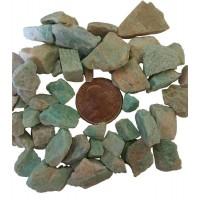 Amazonite Raw Untumbled Stones - 1 Pound Pack