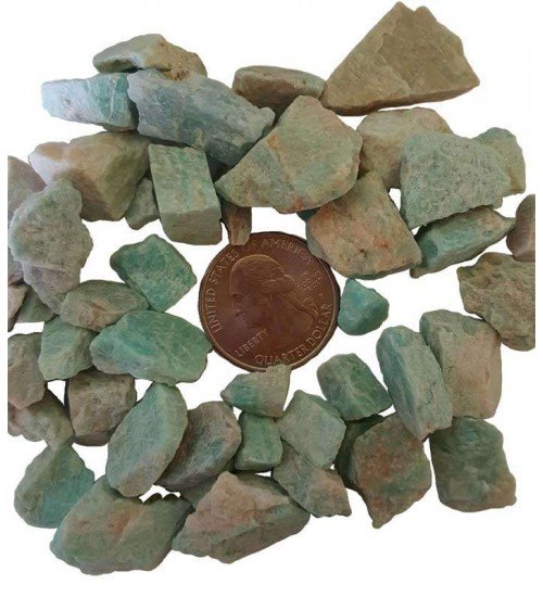 Amazonite Raw Untumbled Stones - 1 Pound Pack