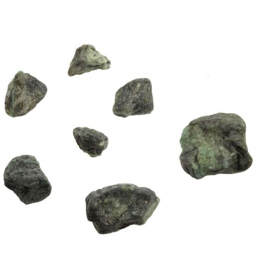 Emerald Raw Untumbled Stones - 1 Pound Pack