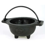 Cast Iron 3 1/2 Inch Wide Mouth Mini Cauldron
