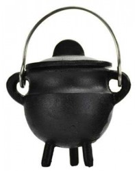 Plain Cast Iron Mini Cauldron with Lid All Wicca Store Magickal Supplies Wiccan Supplies, Wicca Books, Pagan Jewelry, Altar Statues