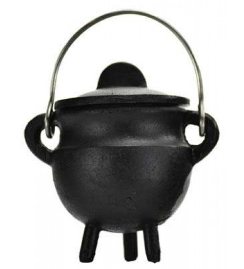 Plain Cast Iron Mini Cauldron with Lid at All Wicca Magickal Supplies, Wiccan Supplies, Wicca Books, Pagan Jewelry, Altar Statues
