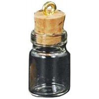 Glass Jar Oil Bottle Vial Necklace