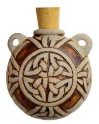Celtic Knot Clay Oil Bottle Necklace All Wicca Store Magickal Supplies Wiccan Supplies, Wicca Books, Pagan Jewelry, Altar Statues