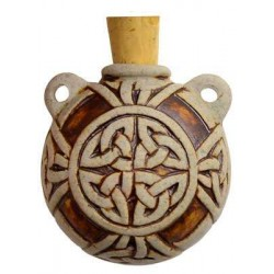 Celtic Knot Clay Oil Bottle Necklace All Wicca Wiccan Altar Supplies, All Wicca Books, Pagan Jewelry, Wiccan Statues