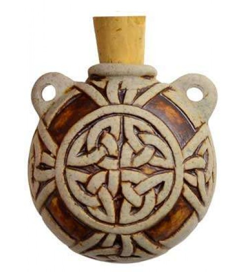Celtic Knot Clay Oil Bottle Necklace at All Wicca Store Magickal Supplies, Wiccan Supplies, Wicca Books, Pagan Jewelry, Altar Statues