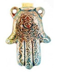 Hamsa Hand Raku Oil Bottle Necklace All Wicca Store Magickal Supplies Wiccan Supplies, Wicca Books, Pagan Jewelry, Altar Statues